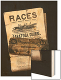 Races, Saratoga, Ten Dollar Bill Wood Print by Nicholas Alden Brooks