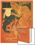 Distillerie Italiane (Italian Distillery) Wood Print by Leopoldo Metlicovitz