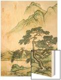 Landscape Wood Print by Cai Jia
