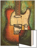 Country Twang Wood Print by Bruce Langton