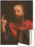 St.Paul Wood Print by Philippe De Champaigne