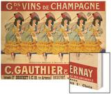 Gds Vins de Champagne, circa 1910 Wood Print by Casimir Brau