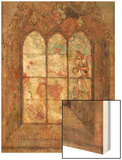 The Stained Glass Window Wood Print by Redon Odilon