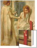 Annunciation Wood Print by Dante Gabriel Rossetti