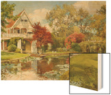 The Boathouse Wood Print by Alfred Parsons
