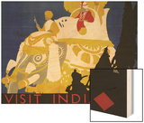 Visit India Poster Wood Print by Tom Purvis
