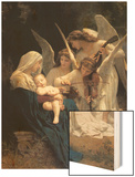 Song of The Angels Wood Print by William Adolphe Bouguereau
