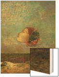Homage to Goya, circa 1895 Wood Print by Redon Odilon