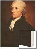 Alexander Hamilton Wood Print by John Trumbull