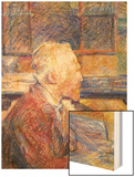 Portrait of Van Gogh Wood Print by Henri de Toulouse-Lautrec