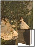 Women in the Garden, 1867 Wood Print by Monet Claude