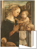 Madonna and Child with Angels Wood Print by Filippo Lippi