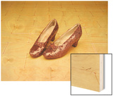 "A Pair of Ruby Slippers Worn by Judy Garland in the 1939 MGM film ""The Wizard of Oz"" Wood Print"