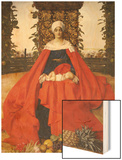 Our Lady of the Fruits of the Earth Wood Print by Frank Cadogan Cowper