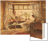 Reading by the Window, Hastings Wood Print by Charles James Lewis
