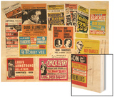 Collection of 1960's Odeon Concert Hall Bills, Including the Beach Boys, Duke Ellington, Ella… Wood Print