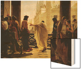 Ecco Homo Wood Print by Antonio Ciseri