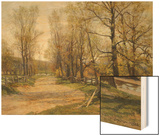 The Country Lane Wood Print by Hugh Jones