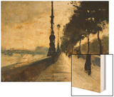 The Embankment, London Wood Print by Lesser Ury