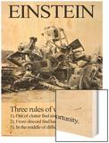 Einstein; Three Rules of Work Prints by Wilbur Pierce