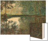 Coin D'Etang A Montgeron, 1876 Wood Print by Monet Claude