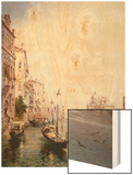 The Grand Canal, Venice Wood Print by Franz Richard Unterberger