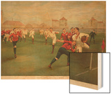 A Rare Print of England V. Wales. January 5th 1895 at Swansea Wood Print