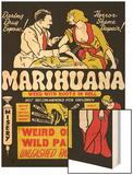 Marihuana: Weed with Roots in Hell Wood Print