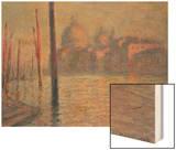 Santa Maria della Salute and the Canale Grande, Venice, 1908 Wood Print by Monet Claude