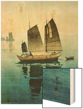 Forenoon, from a Set of Six Prints of Sailing Boats Wood Print by Yoshida Hiroshi