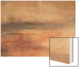 Coastal View at Sunset Wood Print by J. M. W. Turner