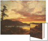 A Sunset Wood Print by Frederic Edwin Church