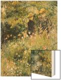 Conversation Dans Une Roseraie, 1876 Wood Sign by Renoir Pierre-Auguste