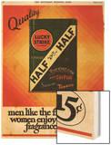 Lucky Strike, Cigarettes Smoking, USA, 1930 Wood Print
