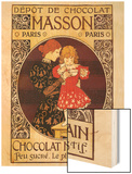 Depot de Chocolat Masson: Chocolat Mexicain Wood Print by Eugene Grasset