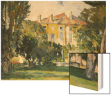 The House at Jas de Bouffan, 1882- 1885 Wood Sign by Cézanne Paul