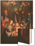 Adoration of the Christ Child Wood Print by Jan Joest of Kalkar (Follower of)