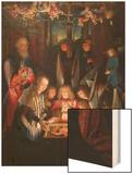 Adoration of the Christ Child Wood Print by Jan Joest of Kalkar (Follower of)