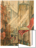 Trading Floor of the Chicago Board of Trade Wood Print by Franklin McMahon