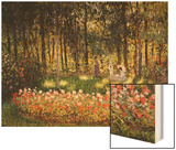 Wooded Scene Wood Print by Monet Claude