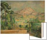 Montagne Sainte-Victoire Wood Sign by Cézanne Paul