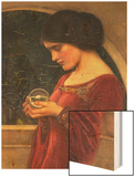 The Crystal Ball Prints by John William Waterhouse
