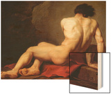 Patroclus Wood Print by Jacques-Louis David