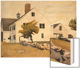 House at Essex, Massachusetts Wood Print by Hopper Edward