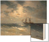 Sailing ship in the moonlight on a calm sea, 1874 Posters by Ivan Konstantinovich Aivazovsky