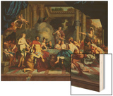The Marriage Feast of Peleus and Thetis Wood Print by Gerard De Lairesse