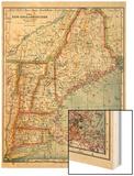 1883, New England 1883, Maine, United States Wood Print