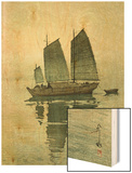 Evening, from a Set of Six Prints of Sailing Boats Wood Print by Yoshida Hiroshi
