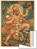 God Hanuman Wood Print