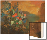 Ophelia Among the Flowers Wood Print by Redon Odilon